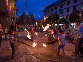 四川凉山州群众欢度彝族火把节