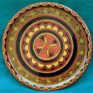 凉山彝族漆器展示:茶盘、木盔