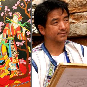 彝族撒尼人的田园画家——赵光亮