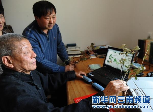 """彝山""""草药王""""张之道扎根山区 为群众行医看病(图)"""