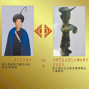 140余张图片相似度极高 彝族文化与三星堆有渊源?