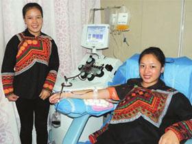 彝族姑娘考上大学 献血回报南充好人