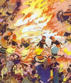 彝族火把节的传说(一)