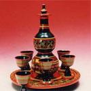 凉山彝族漆器展示:酒具