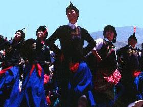 彝族青年达体舞