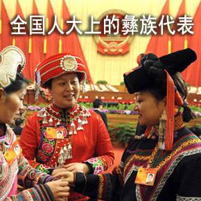 全国人大会议上的彝族代表