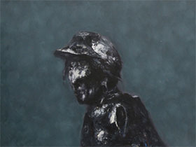 彝族青年画家安杰系列作品——《彝人肖像》