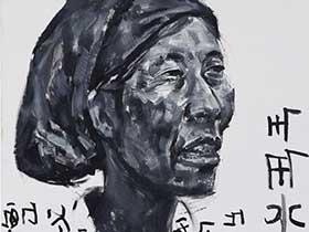 彝族青年画家安杰系列作品——《无题》系列