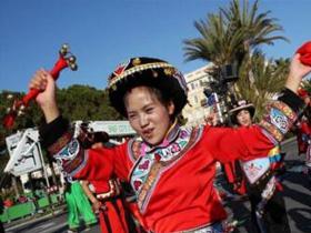 首个文化和自然遗产日 贵州六盘水彝族铃铛舞成亮点