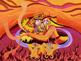 红土地上的彝族艺术奇葩——浓墨重彩石林农民画(一)