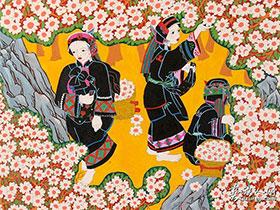 红土地上的彝族艺术奇葩——浓墨重彩石林农民画(三)