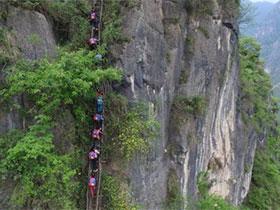 悬崖村钢梯修好之后,村民陈古吉家的乐与痛
