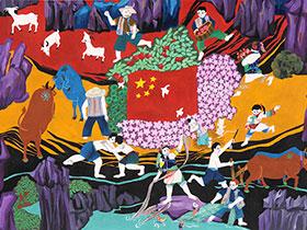 红土地上的彝族艺术奇葩——浓墨重彩石林农民画(四)