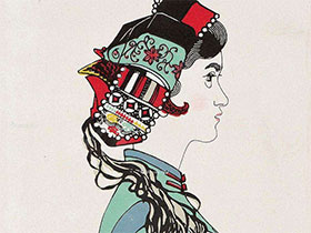 当代名画家黄永玉的版画组画《阿诗玛》