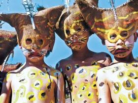 双柏彝族原生态祭祀舞蹈——小豹子笙