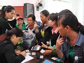 马边2018年首期彝绣培训在雪口山乡开班