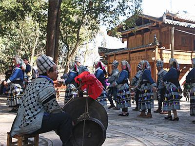 云南省文山麻栗坡城寨村的彝族白倮文化