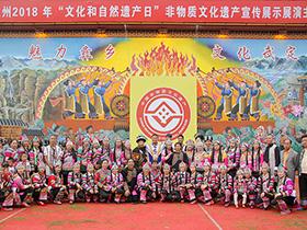 楚雄州2018年非物质文化遗产展示演出活动在武定举行