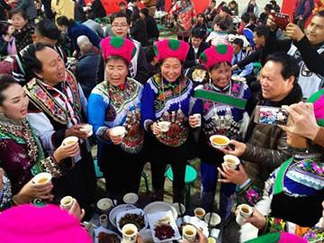 云南禄劝县2018彝族年在凤家古镇举行