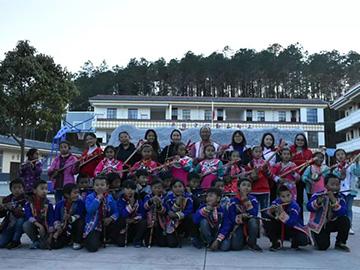 云南大学学生会同学深入彝乡体验彝族歌舞魅力