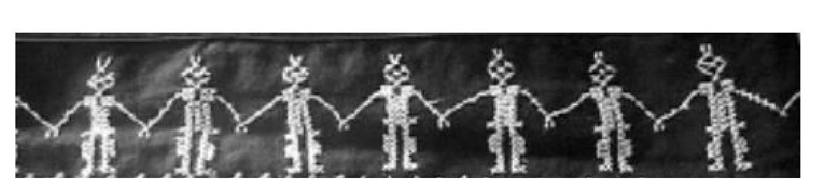 图3人形舞蹈纹局部细节