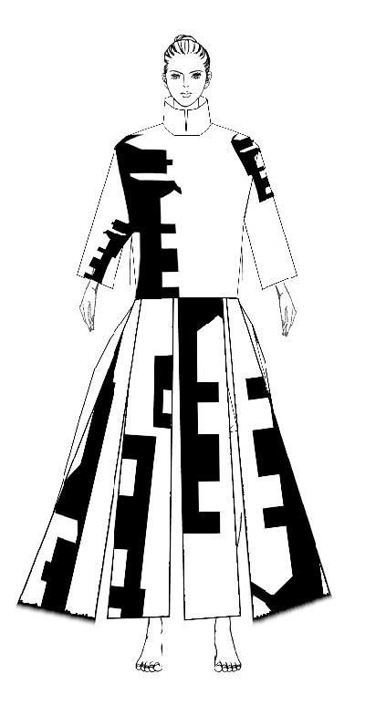 图6人形舞蹈纹造型设计效果图1