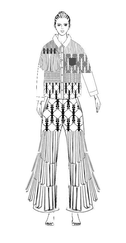 图7人形舞蹈纹造型设计效果图2