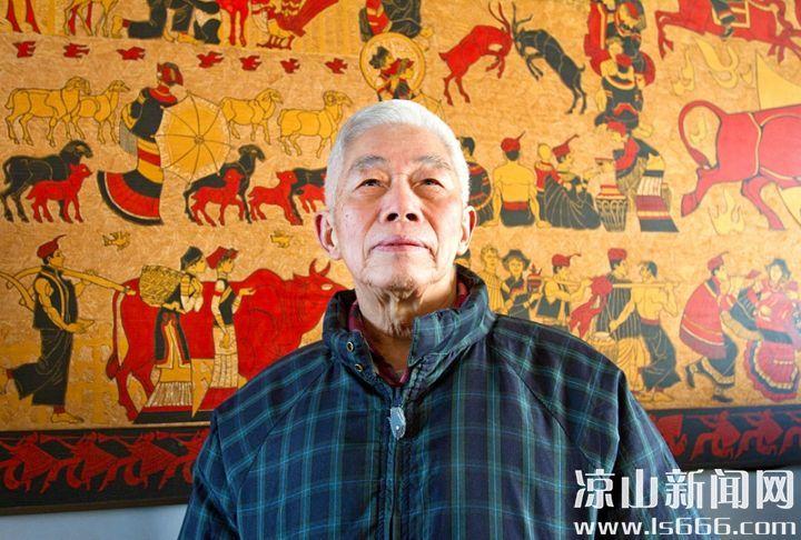 时隔36年,康绍熙老师谈起当年和另外7位老师一起创作《凉山风情》的情景仍感慨良多。