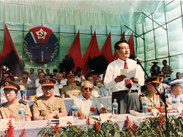 伍精华24年前在彝海结盟60周年暨彝海结盟纪念碑揭碑仪式上讲话