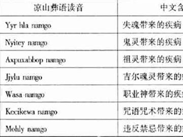 凉山彝族的疾病信仰与仪式医疗(上)