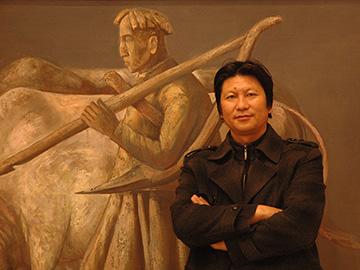 从原始符号到现代图式,未曾苏醒过的彝山之梦|记著名彝族画家瓦其比火教授及其作品