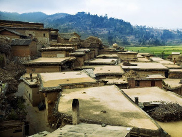 Traditional dwellings of Yi People at Chengzi Ancient Village, Luxi County