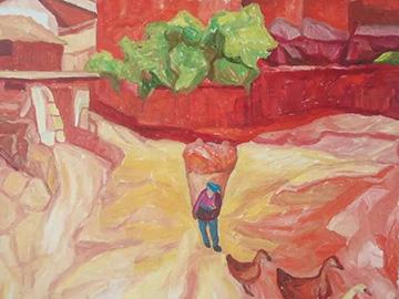 李树平《罗婺彝人系列》油画作品——日常
