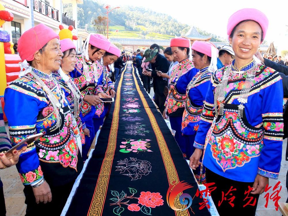 峨山富良棚乡的彝族同胞