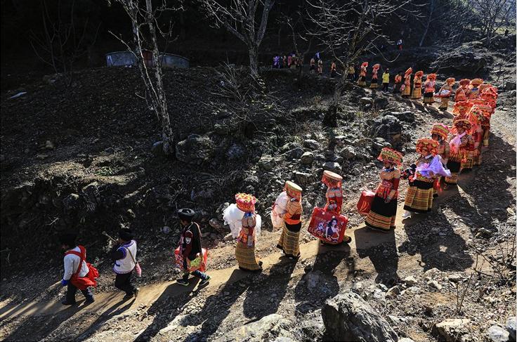 傈僳族婚礼 魏青 (摄)凉山州文化广播电视和旅游局供图