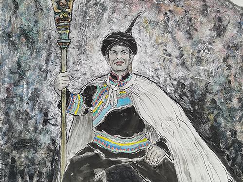 画家李宗委创作的系列绘画作品:《彝族之魂》