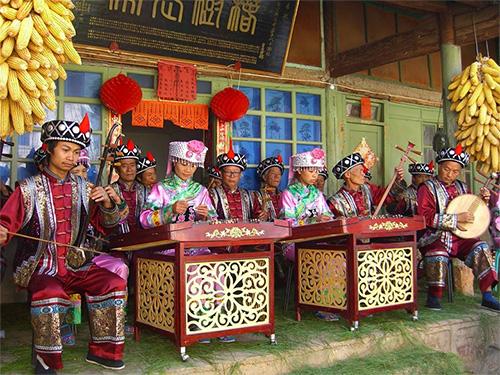 攀枝花迤沙拉古村落 谈经古乐传唱了600年