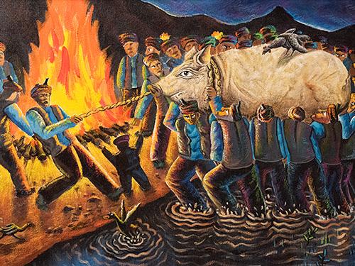 当代四川彝族风情油画与彝族文化的关系