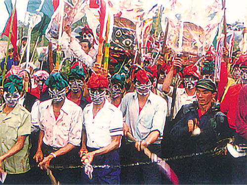 彝族新年祭祀面具