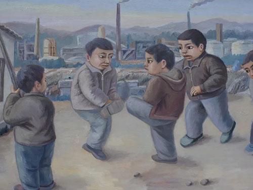 彝族画家彭勇林儿童题材油画作品精选